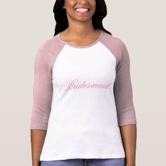 Pink Bridesmaid T-Shirt