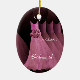 Pink Bridesmaid Thank You Wedding V003 Ceramic Oval Decoration