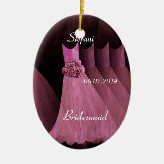 Pink Bridesmaid Thank You Wedding V003 Ceramic Oval Decoration