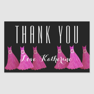 Pink Bridesmaids Thank You Bridal Shower V08 Stickers