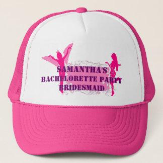 Pink bridesmid bachelorette party trucker hat