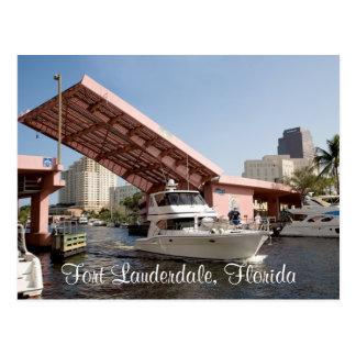 Pink Bridge in Fort Lauderdale, Florida Postcards