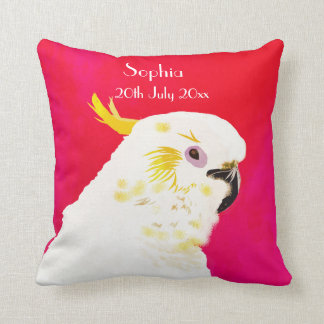 Pink Bright  Baby Date Cockatoo Cushion