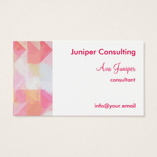Pink Bright Painted Geometric Abstract Business Card