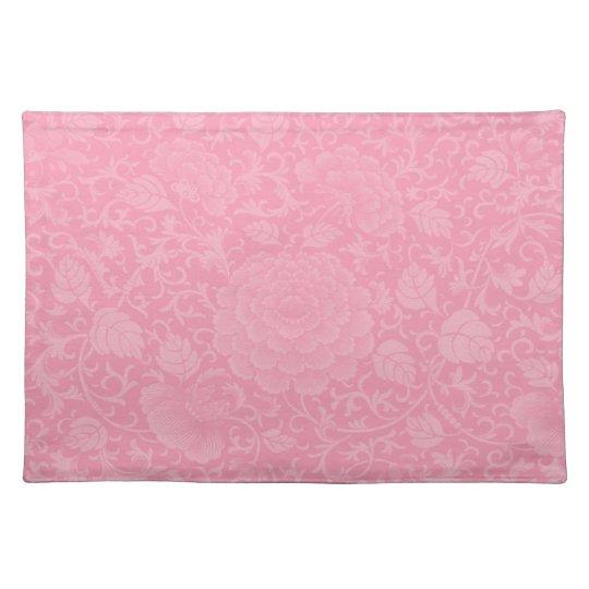 Pink Brocade Placemats
