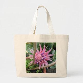 Pink Bromeliad Tote