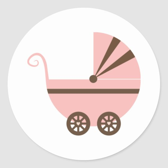 Pink & Brown Buggy Stickers