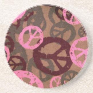 Pink/Brown Camo/Peace Look Coaster