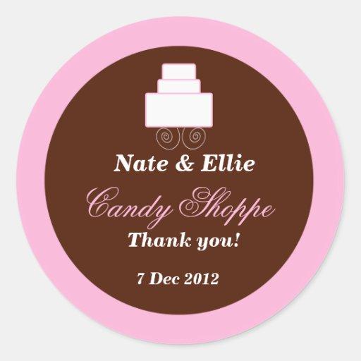 Pink & Brown  Candy Shoppe Sticker