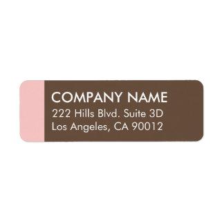 Pink Brown Color Block Modern