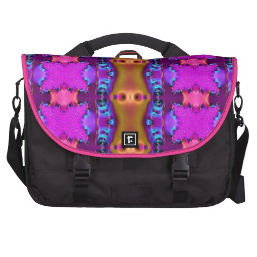 Pink Brown Colorful Abstract Laptop Commuter Bag