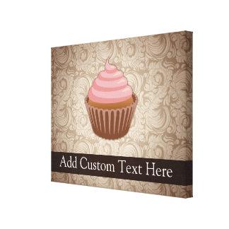 Pink/Brown Cupcake Canvas Print
