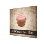 Pink/Brown Cupcake Gallery Wrapped Canvas