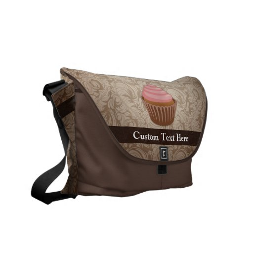 Pink/Brown Cupcake Courier Bags