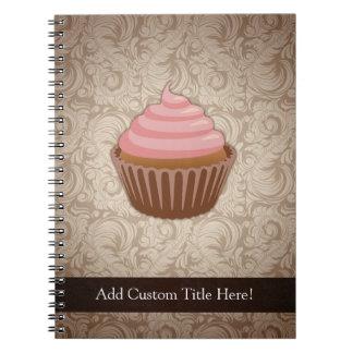 Pink/Brown Cupcake Notebooks