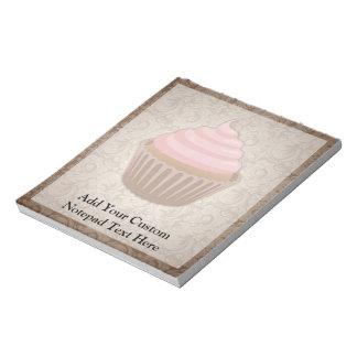 Pink/Brown Cupcake Notepad