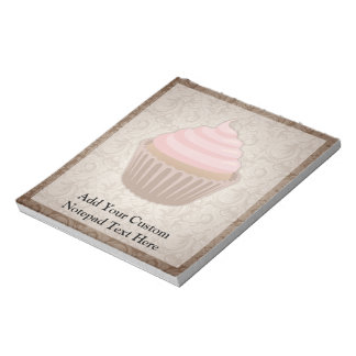 Pink/Brown Cupcake Notepads