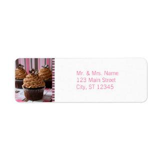 Pink & Brown Cupcakes