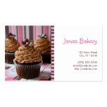 Pink & Brown Cupcakes Business Card Templates