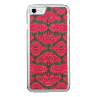 Pink brown fancy pattern carved iPhone 8/7 case