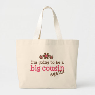Pink/Brown Flower Big Cousin T-shirt Jumbo Tote Bag