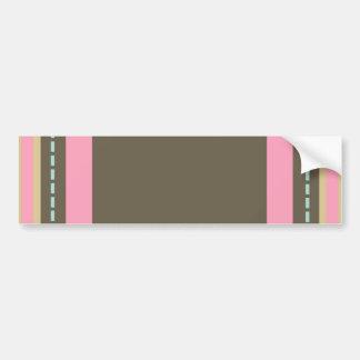 Pink & Brown Monogram Bumper Sticker