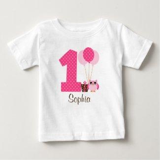 Owl 1st Birthday T-Shirt