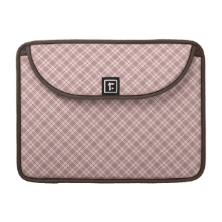 Pink brown plaid sleeve for MacBooks