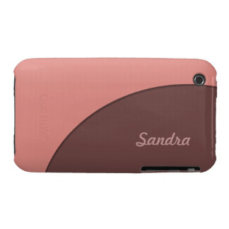 Pink Brown Retro iPhone 3 Covers