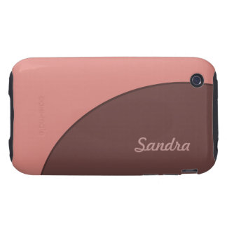 Pink Brown Retro iPhone 3 Tough Cover