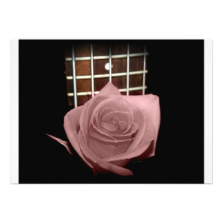 Pink brown tinted rose bloom 5 string bass fret announcement