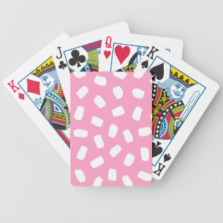 Pink Brushstrokes Bicycle Playing Cards