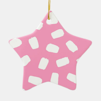 Pink Brushstrokes Ceramic Star Decoration