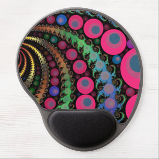Pink Bubble Fractal Mosaic Gel Mouse Mat