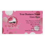 Pink Bubble Swirl Roller Skate, Skating Business Cards