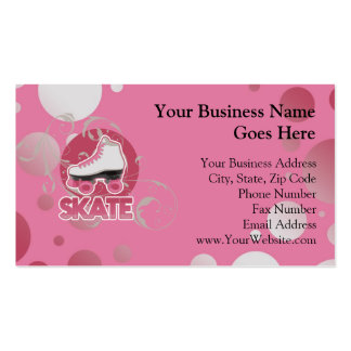 Pink Bubble Swirl Roller Skate, Skating Pack Of Standard Business Cards