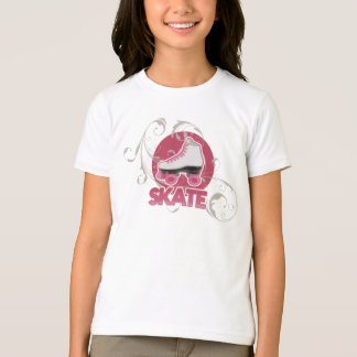 Pink Bubble Swirl Roller Skate, Skating T-Shirt