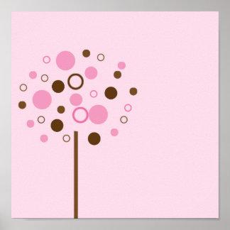 Pink Bubblegum Tree Print