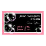 Pink Bubbles Cleaning Service Business Cards