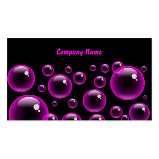 Pink Bubbles Company Name Business Cards