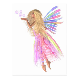 Pink Bubbles Fairy Postcard