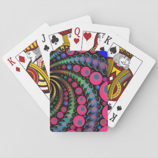 Pink Bubbles Fractal Mosaic Playing Cards