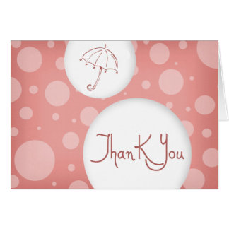 pink bubbles thank you greeting card