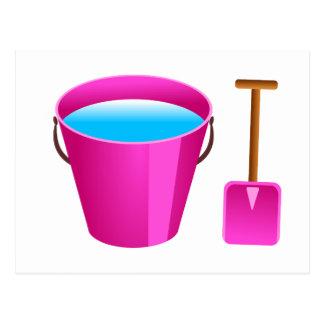 Pink Bucket & Spade Postcard