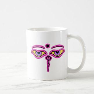 Pink Buddha Eyes.png Coffee Mugs