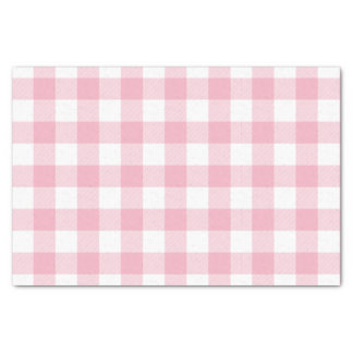 Pink Buffalo Check Pattern Tissue Paper