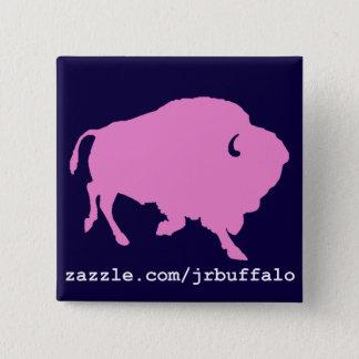 pink buffalo square pin