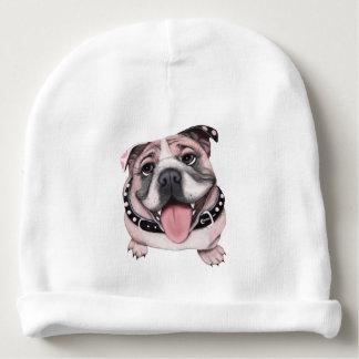 Pink Bulldog Baby Beanie Hat