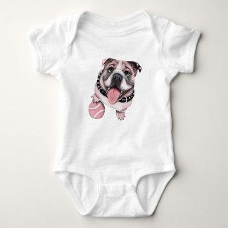 Pink Bulldog Baby Shirt