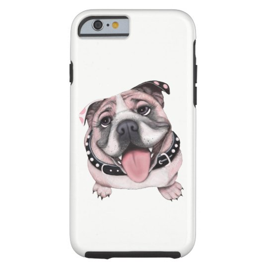 Pink Bulldog dog Cell iPhone Case